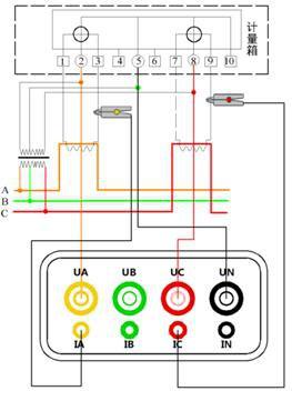 三相三线接线示意图